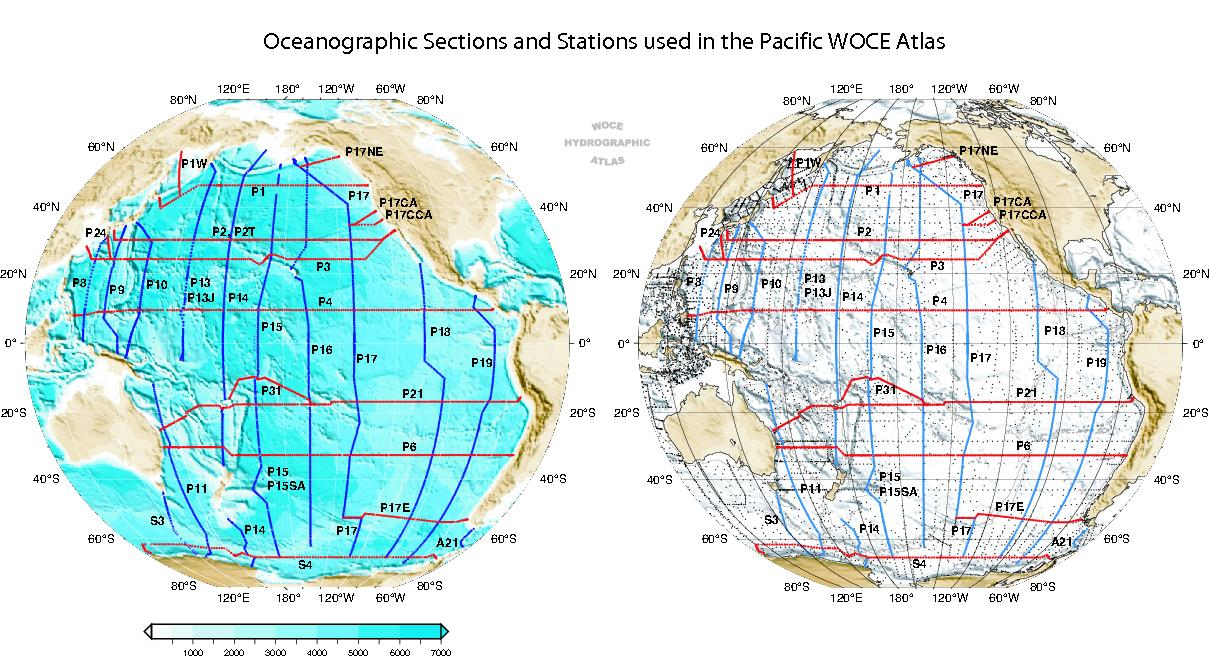 WOCE Atlas Volume Pacific Ocean - World map pacific ocean